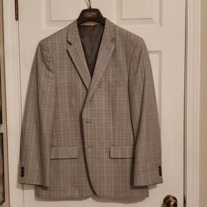 Gray/Pink Plaid Blazer 42 Regular